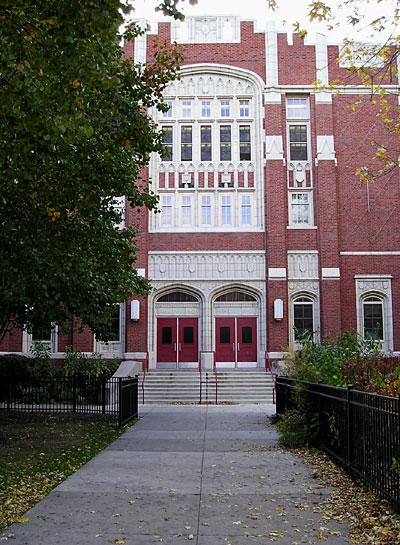 Amundsen High School; copyright Bonita Lovison